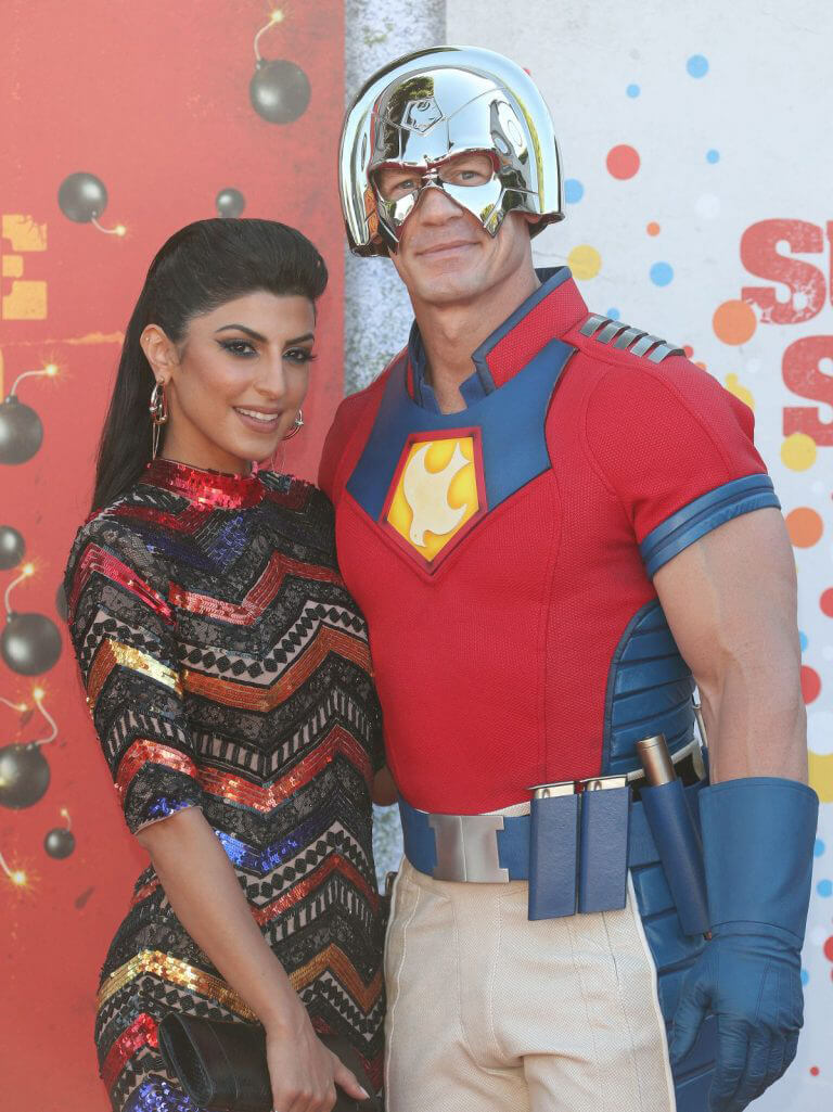 Shay Shariatzadeh and John Cena at The Suicide Squad Premiere in Westwood 08/20/2021 7