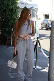 Winnie Harlow leaves after lunch at Il Pastaio in Beverly Hills 08/03/2021 3
