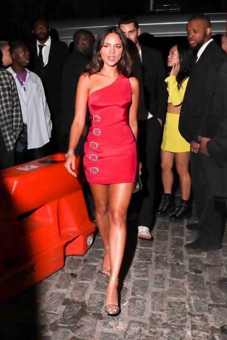 Eiza González in Hot Pink Dress at Rihanna's MET Gala Afterparty 09/13/2021 4