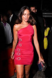 Eiza González in Hot Pink Dress at Rihanna's MET Gala Afterparty 09/13/2021 9