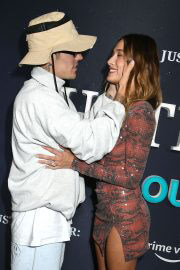 Hailey and Justin Bieber at Premiere of Justin's Documentary Our World in New York 09/14/2021 9