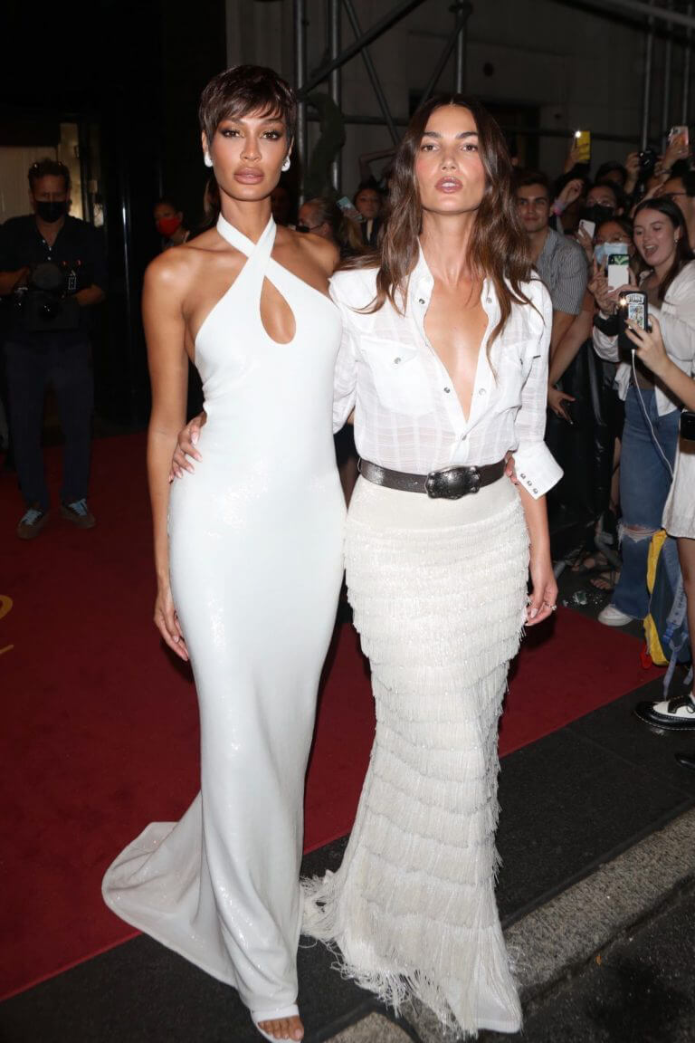 Joan Smalls and Lily Aldridge Heading to Met Gala in New York 09/13/2021 10