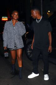 Justine Skye and Giveon Seen at Carbone in New York 09/14/2021 5