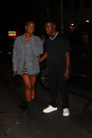 Justine Skye and Giveon Seen at Carbone in New York 09/14/2021 6