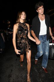 Kaia Gerber with Boyfriend Jacob Elordi Heading for Met Gala 2021 After Party 6