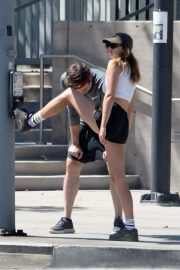 Keeley Hazell and Jason Sudeikis Steps Out Hiking in Los Angeles 09/12/2021 10