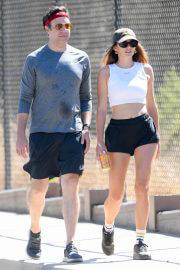 Keeley Hazell and Jason Sudeikis Steps Out Hiking in Los Angeles 09/12/2021 13