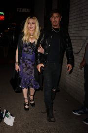 Madonna Leaves Scooter Braun's Private Dinner Party at Carbone 09/14/2021 2