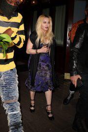 Madonna Leaves Scooter Braun's Private Dinner Party at Carbone 09/14/2021 4