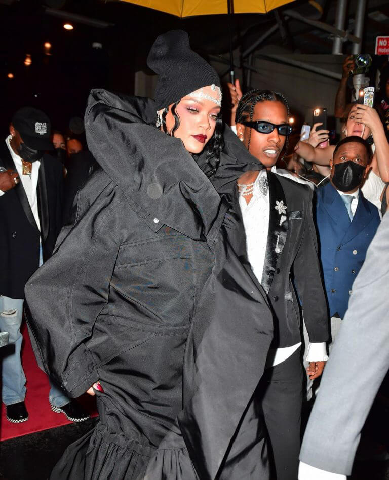 Rihanna and Asap Rocky Heading to Met Gala in New York 09/13/2021 5