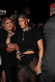 Rihanna Arrives at Her Met Gala After-Party in New York 09/13/2021 6
