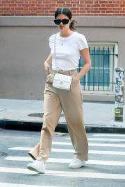 Sara Sampaio in Khaki and White Outfit Day Out in New York 09/13/2021 6