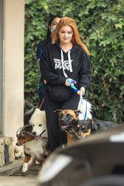 Ariel Winter in Black Hoodie Picking up Her Dogs from Groomer in Los Angeles 09/27/2021 3