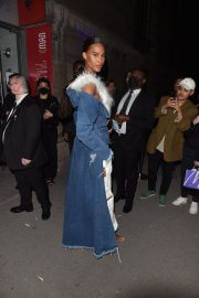 Cindy Bruna Leaves No Time To Die After-Party in London 09/28/2021 1