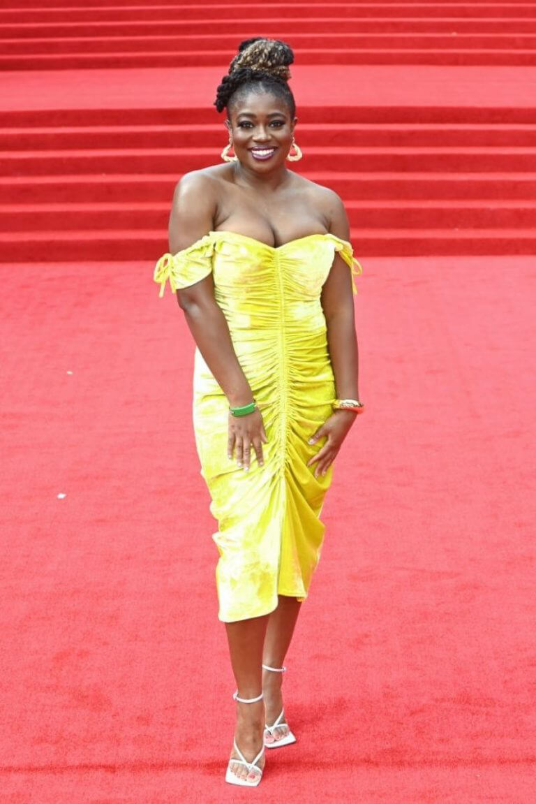 Clara Amfo attends No Time to Die World Premiere at Royal Albert Hall in London 09/28/2021 1