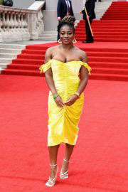 Clara Amfo attends No Time to Die World Premiere at Royal Albert Hall in London 09/28/2021 4