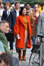 Constance Wu on the Set of Lyle Lyle Crocodile in New York 09/27/2021 4