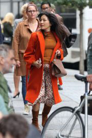 Constance Wu on the Set of Lyle Lyle Crocodile in New York 09/27/2021 6