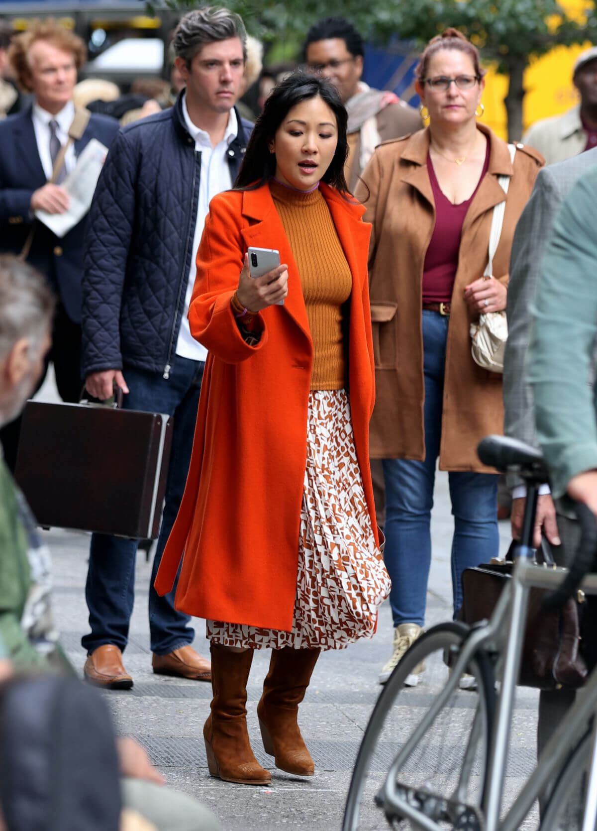 Constance Wu on the Set of Lyle Lyle Crocodile in New York 09/27/2021 7